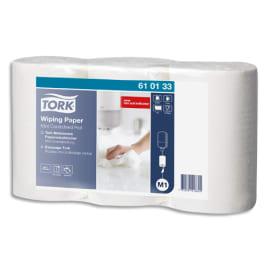 TORK Lot de 3 Mini bobines papier d'essuyage plus à dévidage central M1 120 mètres, non prédécoupé Blanc photo du produit