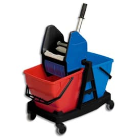 RUBBERMAID Kit Chariot + support mixte, manche alu, Frange coton photo du produit