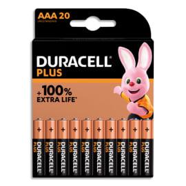 DURACELL Blister de 20 piles PLUS 100% AAA 5000394141087 photo du produit