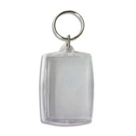 GRAINE CREATIVE Lot de 6 porte-clés rectangle transparents à décorer format 50 x 40 mm photo du produit