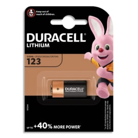 DURACELL Blister d'1 pile 123 Ultra Lithium Duralock pour appareils photos 5000394123106 photo du produit