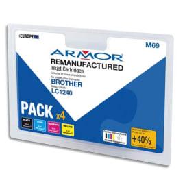 ARMOR Cartouche compatibilité BROTHER PACK 4C LC1240 B10351R1 photo du produit