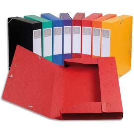 EXACOMPTA Boîte de classement dos 4 cm, en carte lustrée 7/10e coloris assortis photo du produit