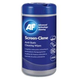 AF Boîte distributrice de 100 lingettes pré-imprégnées antistatiques pour écrans ASCR100T photo du produit