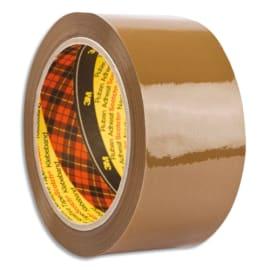 SCOTCH Adhésif d'emballage Low Noise polypropylène silencieux 50 microns H50 mm x L66 mètres Havane BP625 photo du produit