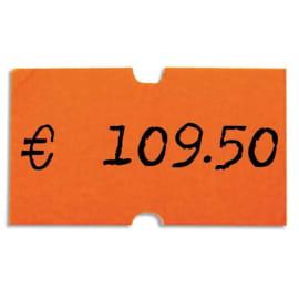 AGIPA Pack 6 rouleaux de 1000 étiquettes Oranges fluos rectangulaires 21X12mm pour pinces 151991-101418 photo du produit