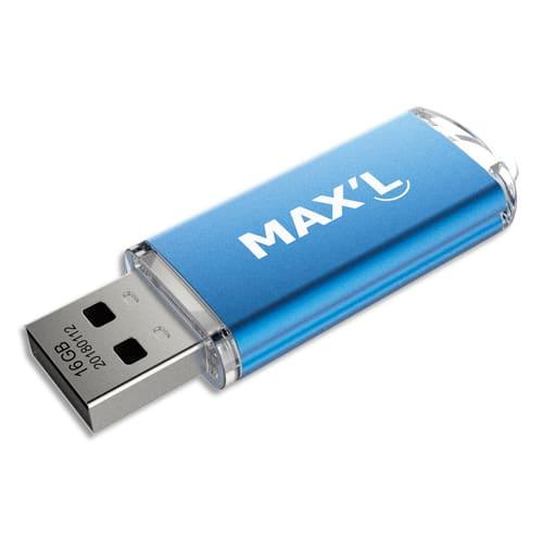 MAXELL Clé USB 2.0 16Go Color's Bleue MAXL85403 photo du produit Principale L