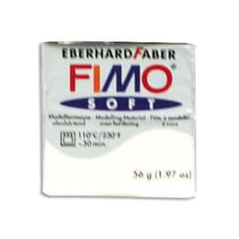 FIMO Pâte à cuire Fimo Soft de 57 g coloris Blanc photo du produit
