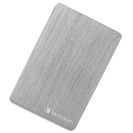 VERBATIM Disque dur 2,5'' USB 3.2 Alu Slim 2To Argenté 53666 photo du produit