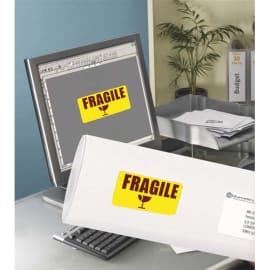 AVERY Boîte de 350 Etiquettes Laser rectangulaire enlevables 99.1x38.1mm coloris Jaune fluo L7263Y-25 photo du produit