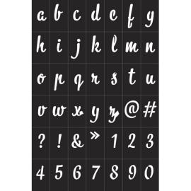 GRAINE CREATIVE Pochoirs Alphabétique Noir en vynile souple, adhésifs, repositionnables, pour textiles… photo du produit