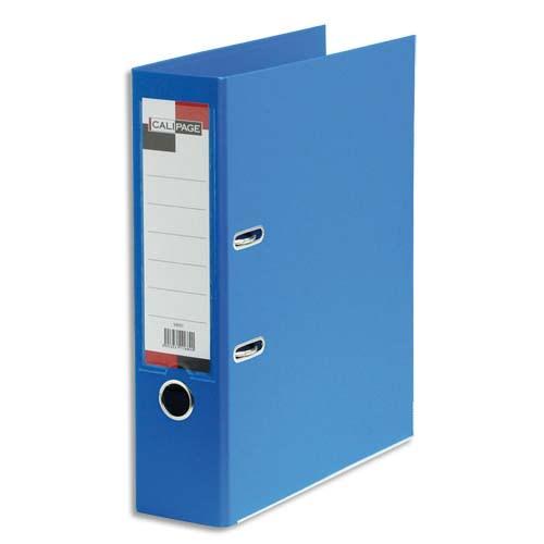 CALIPAGE Classeur à levier en polypropylène intérieur/extérieur. Dos 8 cm. Format A4. Coloris Bleu roi. photo du produit Principale L