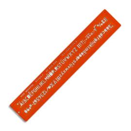 MINERVA Trace lettres hauteur 7 mm norme ISO, longueur 32,5 cm photo du produit