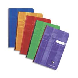 CLAIREFONTAINE Carnet reliure brochure 11x17 cm 192 pages petits carreaux 5x5 papier 90g photo du produit