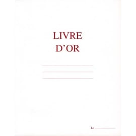 ELVE Livre d'Or format 21x29,7cm Blanc 148 pages. Couverture aspect cuir photo du produit