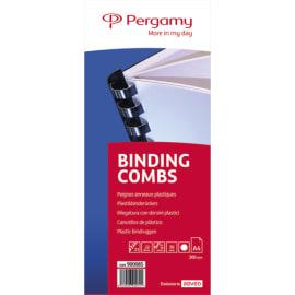 PERGAMY Boîte de 50 peignes anneaux plastiques 22mm Blanc 900085 photo du produit