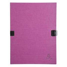 EXACOMPTA Chemise extensible 223500, recouverte de papier contrecollé Violet photo du produit