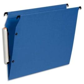 ESSELTE Paquet de 10 dossiers suspendus LMG ARMOIRE en polypro opaque. Fond V, bouton-pression. Bleu photo du produit