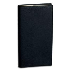 QUO VADIS Agenda Italnote S spiralé 1S/1P+ 1P notes papier Ivoire - format : 8,8 x 17 cm couverture Noire photo du produit