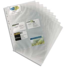 DURABLE Sachet 10 Recharges pour porte-cartes de visite Visifix - 200 cartes de visite - L216 x H304 mm photo du produit