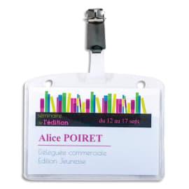 AVERY Boîte de 25 porte-badges à clip métal 60 x 90 mm + 32 inserts imprimables photo du produit