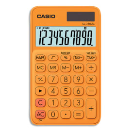 CASIO Calculatrice de poche 10 chiffres Orange SL-310UC-RG-S-EC photo du produit