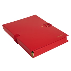 EXACOMPTA Chemise extensible Extensor, grand rabat en pied, balacolor Rouge finition imitation cuir photo du produit