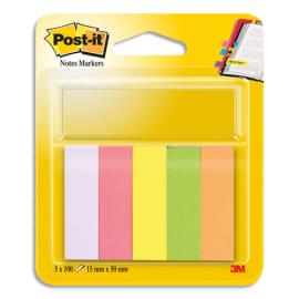 POST-IT Marque-pages POST-IT® papier (5x100) couleurs néons assortis photo du produit