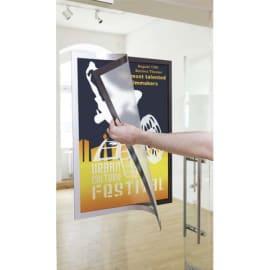 DURABLE Cadre d'affichage adhésif Duraframe Poster A1 - repositionnable - Argent photo du produit