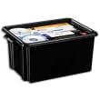 CEP Bac de rangement superposable avec poignée de 32 litres coloris Noir photo du produit