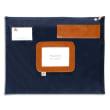 ALBA Pochette navette Bleue en PVC dimensions : 42x32cm photo du produit