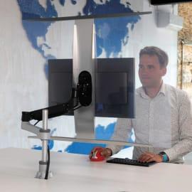 R-GO TOOLS Vitre de protection pour bras-porte écran en PET recyclé, compatible VESA, dim 100x70 RGOHS100 photo du produit