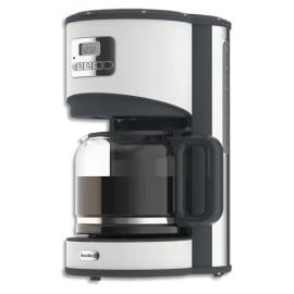 BREVILLE Cafetière Opula Blanche en inox 1000 Watts, capacité 1,5 litre,12 tasses L28 x H39 x P22 cm photo du produit