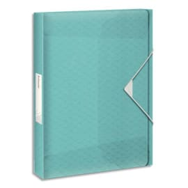 ESSELTE Boîte de classement Colour Ice dos de 4 cm, en polypropylène 7/10ème. Coloris bleu photo du produit