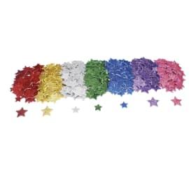 SODERTEX Pack de 500 Etoiles en mousse EVA pailletée adhésive 7 coloris - 4 Tailles 20 à 30 mm, épais 2mm photo du produit