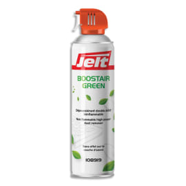 JELT Aérosol dépoussiérant BOOSTAIR GREEN gaz1234ze HFO sans HFC 650ml/500g 108919 photo du produit