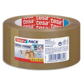 TESA Adhésif d'emballage en PVC colle caoutchouc naturel 65 microns - H50 mm x L66 mètres Havane photo du produit