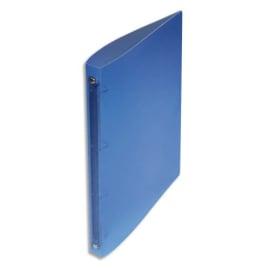 Classeur 4 anneaux polypropylène dos 2 cm Bleu translucide photo du produit