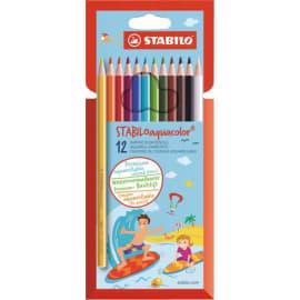STABILO Pochette 12 crayons de couleur AQUACOLOR. Coloris assortis photo du produit