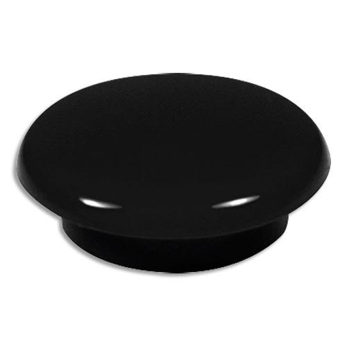 Boîte de 7 aimants 20 mm ronds Noir photo du produit Principale L