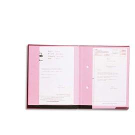 EMEY Parapheur Double Clip 20 compartiments Noir, couverture plastifiée, double clip de maintien photo du produit