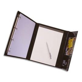 ALBA Conférencier CLAPRES PVC Noir. Mécanisme 4 anneaux diam 16mm. Porte-bloc, pochettes et porte-stylo photo du produit