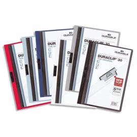 DURABLE Chemise de présentation Duraclip 60 à clip, couverture transparente - 1-60 feuilles A4 - Assortis photo du produit