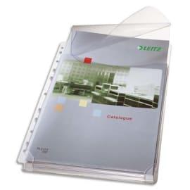 LEITZ Sachet de 5 pochettes plan en PVC 170 µ grainé, peut contenir jusqu'à 200 feuilles photo du produit