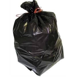 Carton de 200 sacs poubelles 130L Noirs 20 microns en polyéthylène super économiques photo du produit