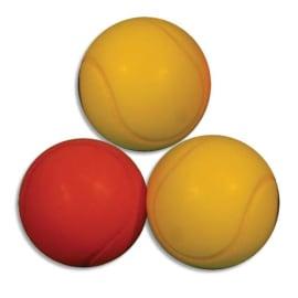 FIRST LOISIRS Sachet de 3 balles de Tennis en mousse Basse Densité, diamètre 7 cm photo du produit