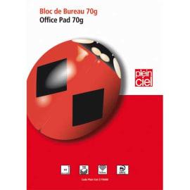 PLEIN CIEL Bloc de bureau 21x29,7cm 160 pages détachables petits carreaux 70g. Couverture vernie photo du produit