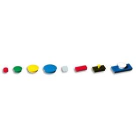 Boîte de 5 aimants 27 mm ronds Bleu photo du produit