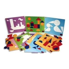Jeu Logicolor formes géométriques, 9 cartes et + de 100 pièces couleurs et formes assorties photo du produit