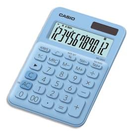CASIO Calculatrice de bureau 12 chiffres Bleue Claire MS-20UC-LB-S-EC photo du produit